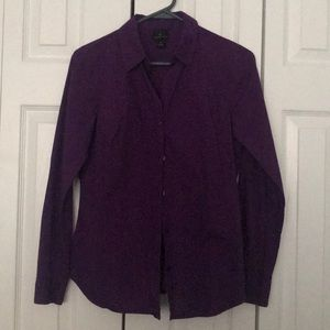 Long sleeve button down collared shirt